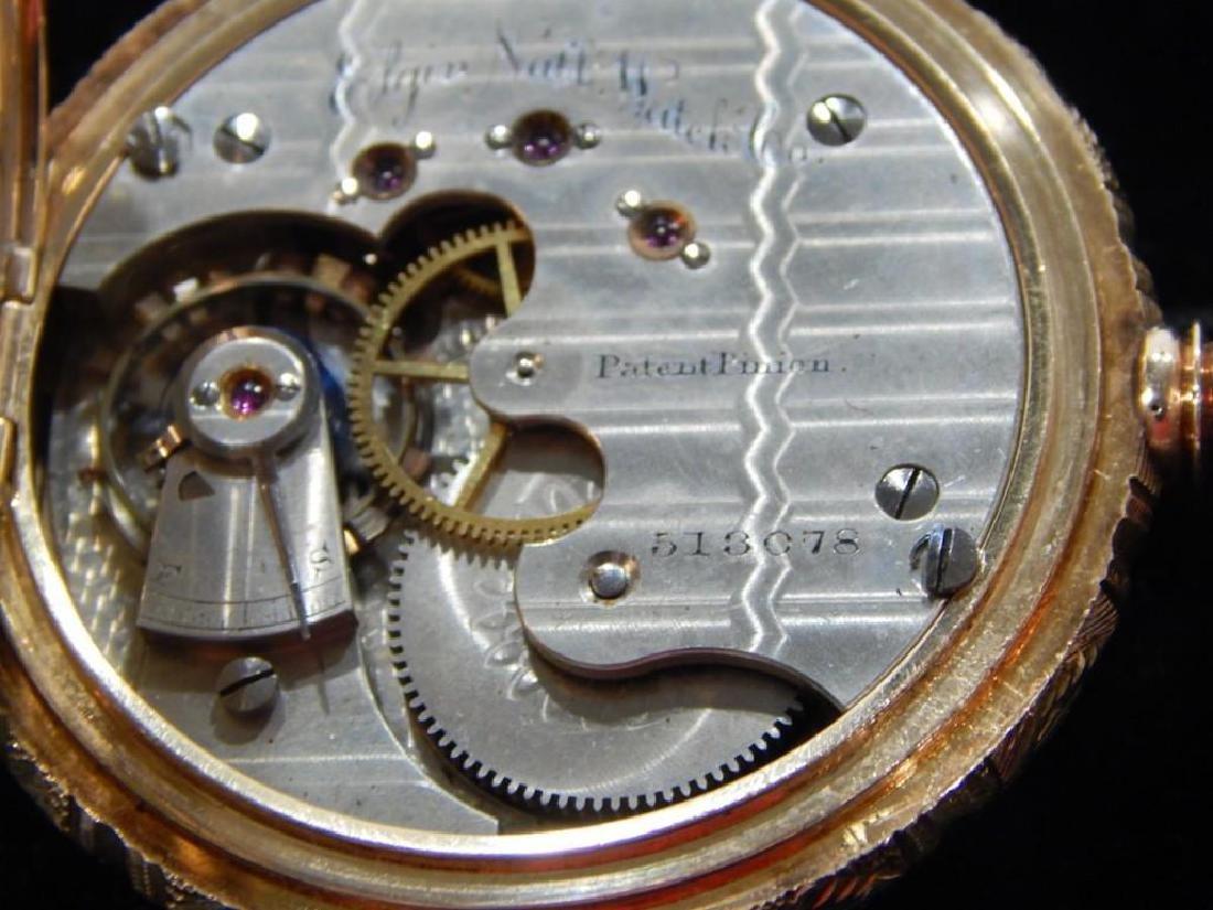 Elgin Mens 18k Gold Pocket Watch - 5