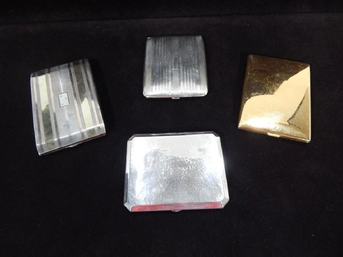 Group of Four Vintage Sterling Silver Cigarette Cases