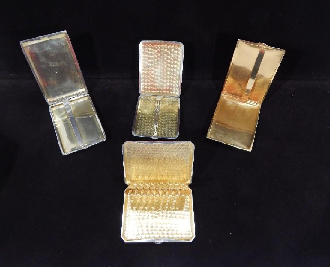 Group of Four Vintage Sterling Silver Cigarette Cases - 2