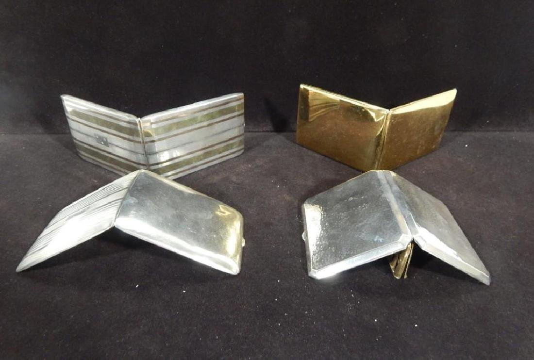 Group of Four Vintage Sterling Silver Cigarette Cases - 3