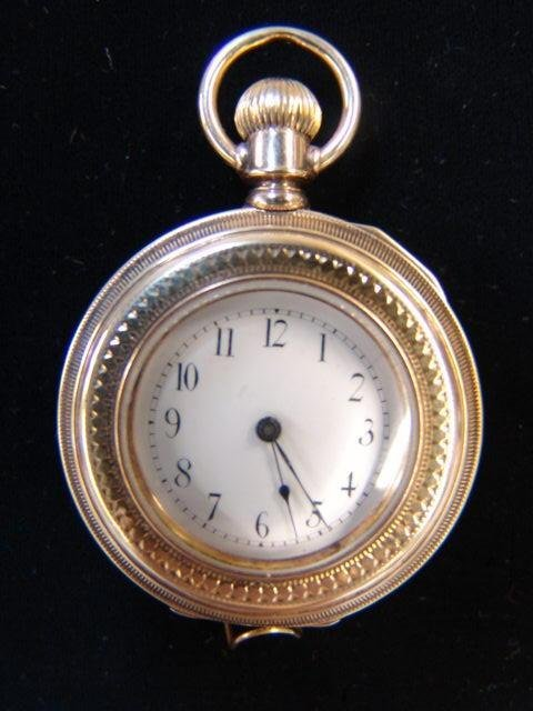 1: Elgin 18k Gold Pocket Watch