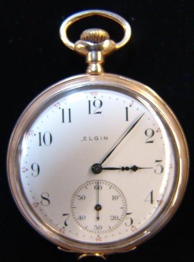 8: Elgin 14K Gold Pocket Watch