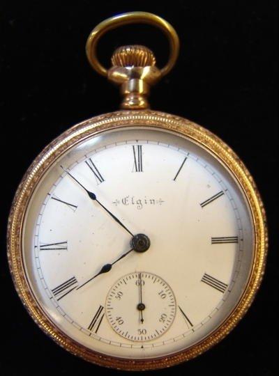 10: Elgin Open Face Pocket Watch