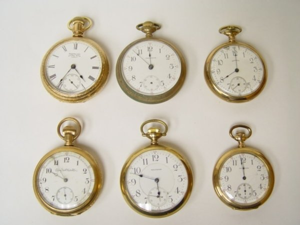 12: Group 6 Antique Pocket Watches