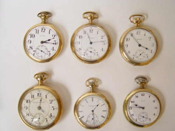 13: Group 6 Antique Pocket Watches
