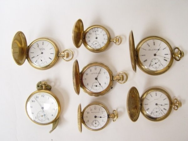 14: Group of 7 Antique Pocket Watches