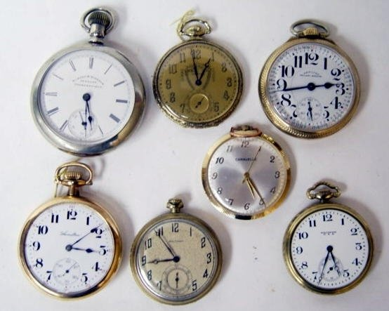 15: Group 7 Antique Pocket Watches