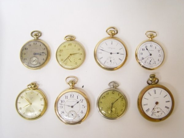17: Group of 8 Antique Pocket Watches