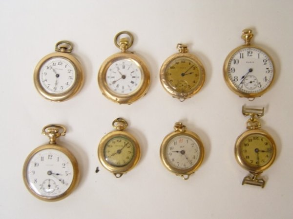 18: Group of 8 Antique Pocket Watches