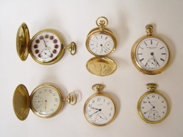 19: Group of 6 Antique Pocket Watches