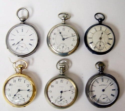 20: Group of 6 Antique Pocket Watches