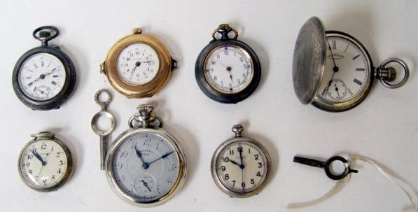 21: Group of 7 Asst Pocket Watches