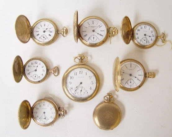 22: Group of 8 Antique Pocket Watches