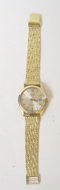 52: Rolex Gold Filled Watch W/ 14K Band