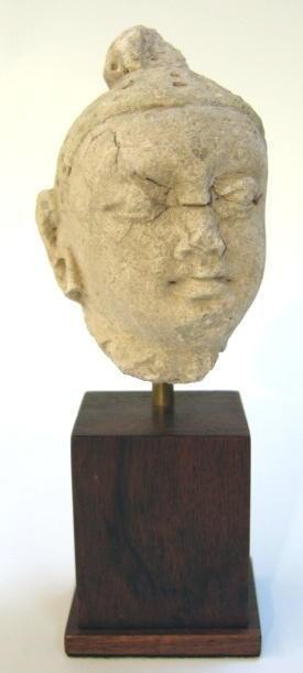 1 Gandharan Stucco Head of Buddha