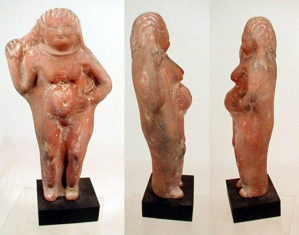 23 Egypto-Roman Terracotta Pregnant Female