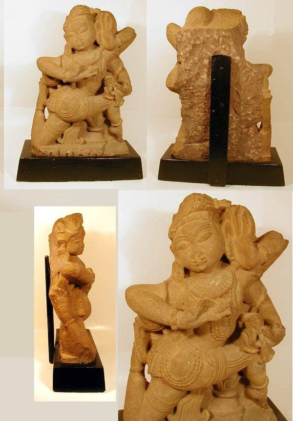 18 Indian Sandstone Dancing Deity