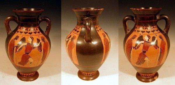 2001A: Attic Black Figure Belly Amphora