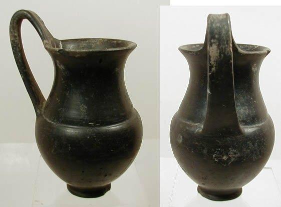2003A: Etruscan Bucchero Ware Pottery Olpe