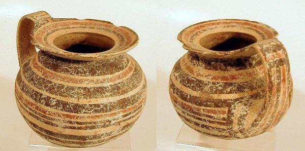 2003C: Daunian Round Body Polychrome Askos