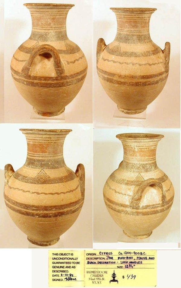 2004A: Cypriot Bichrome Pottery Amphora