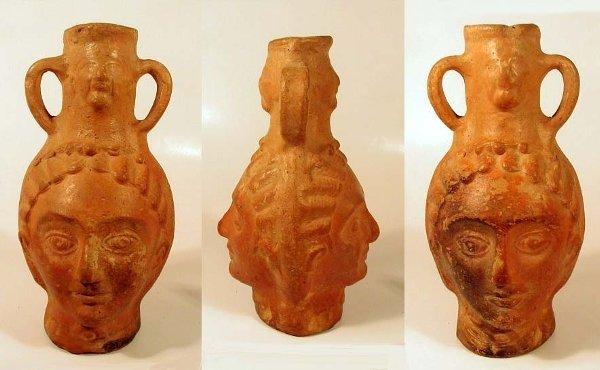 2005: Roman Red Slip ware Janus-Head Flask