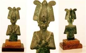 2049F: Egyptian Bronze Bust of Osiris