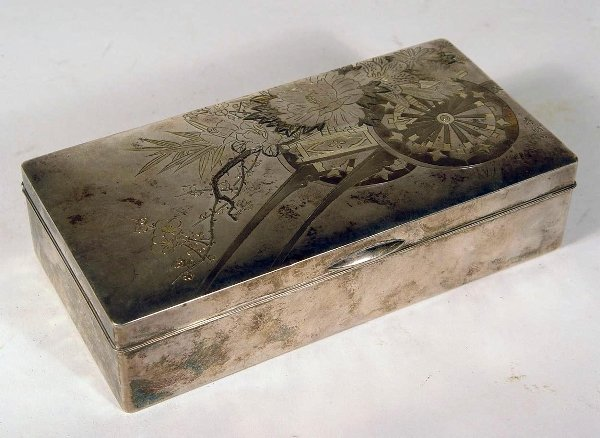 3015: Japanese Silver Compartment  Box