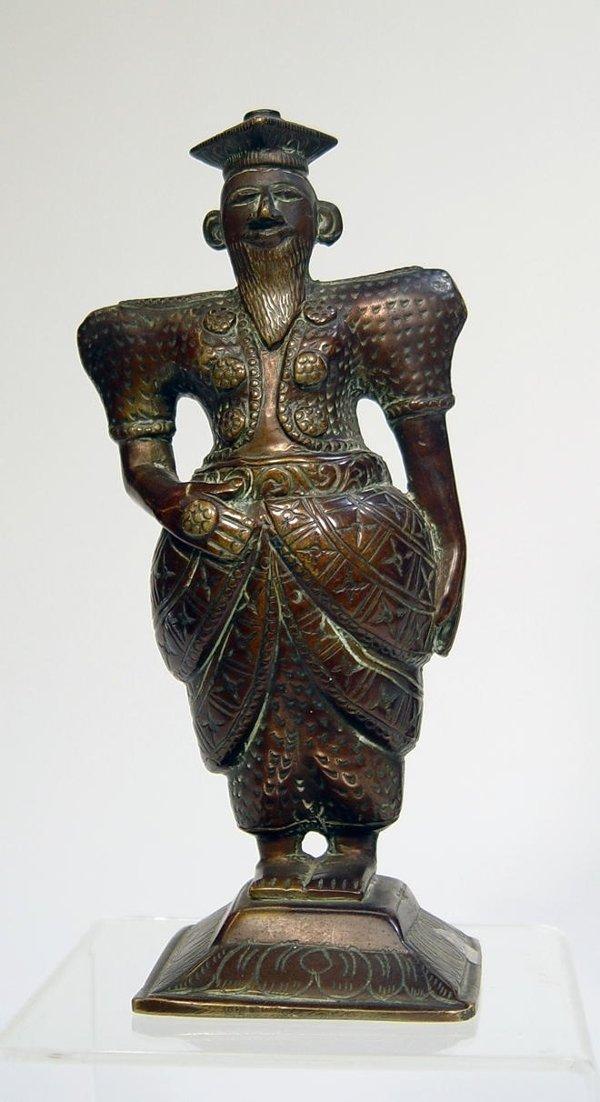 3017: Sri Lanka Bronze Figure of Standing Man