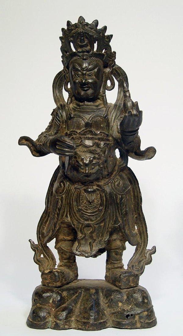 3017A: Chinese Bronze Figure of Maitraya