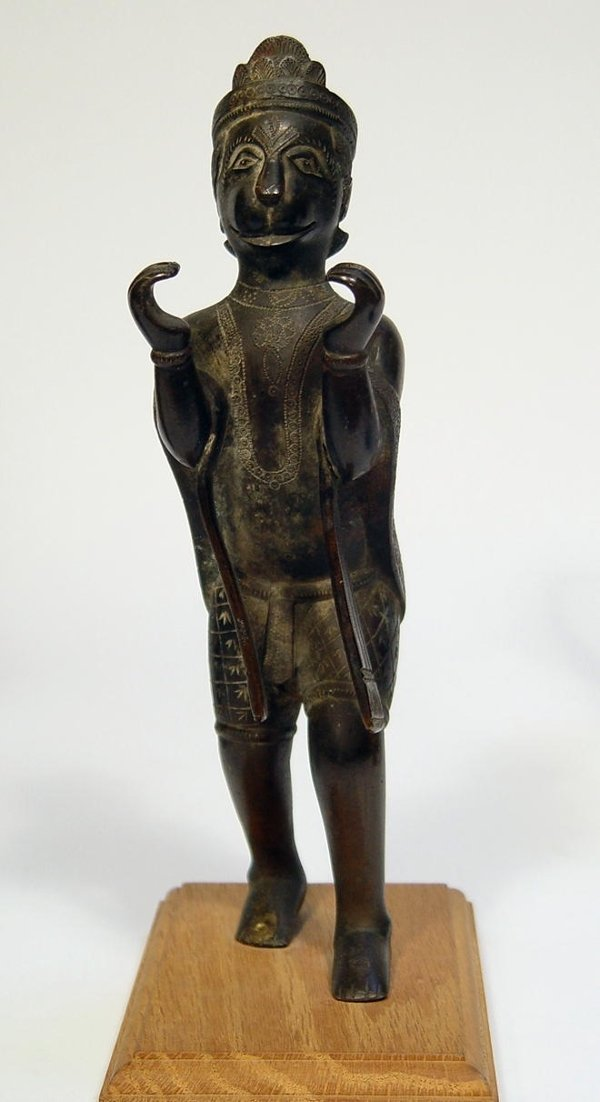 3017B: Indian Bronze Figure of Hanuman