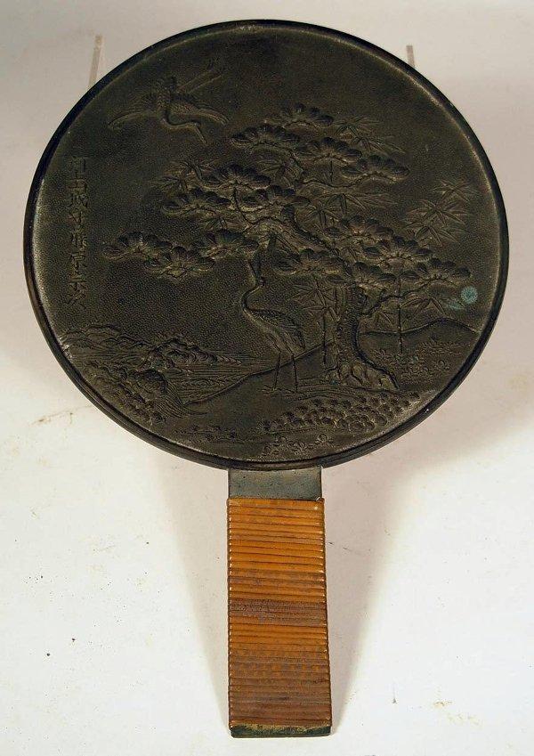 3019: Bronze Hand Mirror