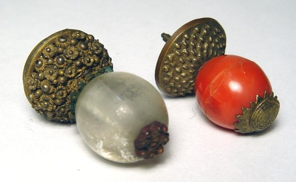 3107: Chinese Mandarin Hat Buttons (2)