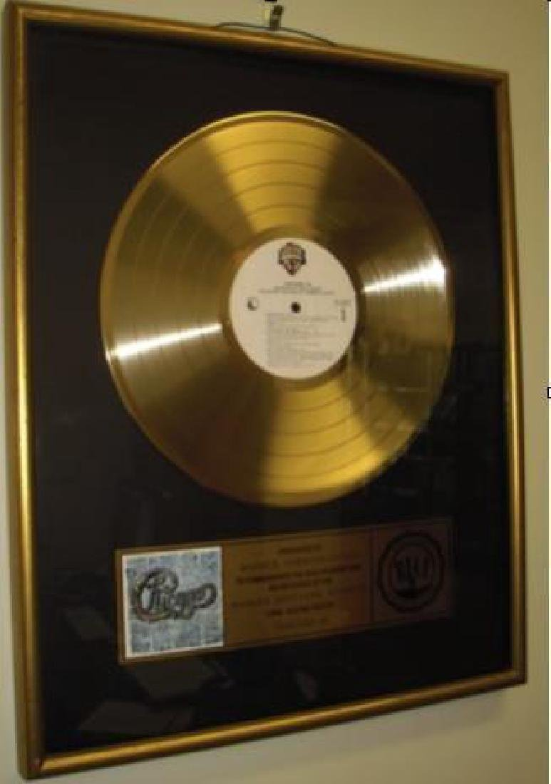 """1986 Chicago """"18"""" Gold Record"""