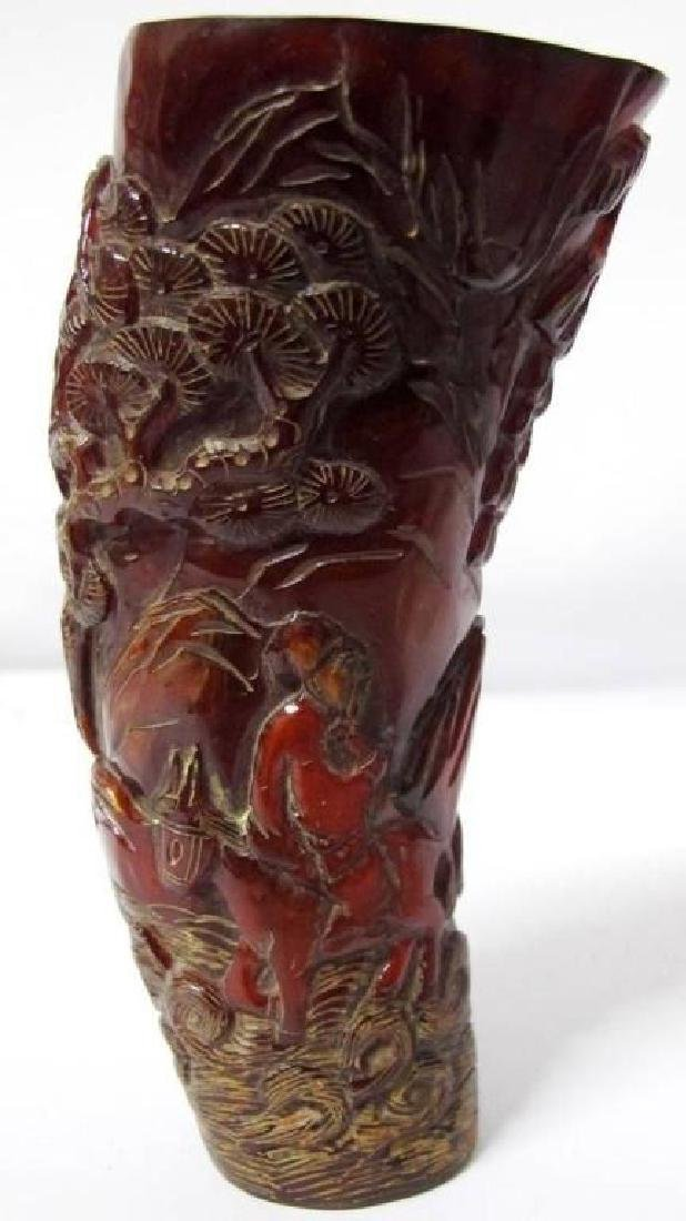 Chinese Dynasty Ox Horn Wine Cup