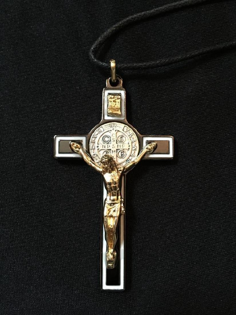 St Benedict of Nursia Cross Crucifix Medal