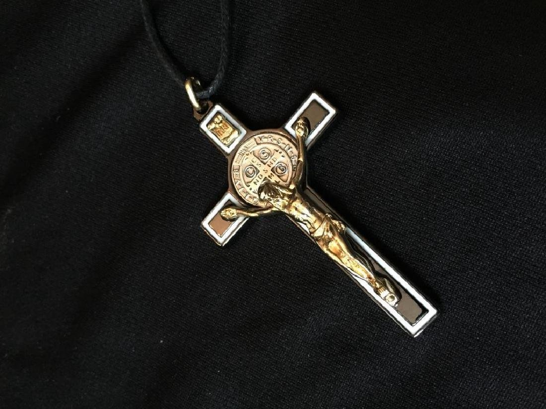 St Benedict of Nursia Cross Crucifix Medal - 2