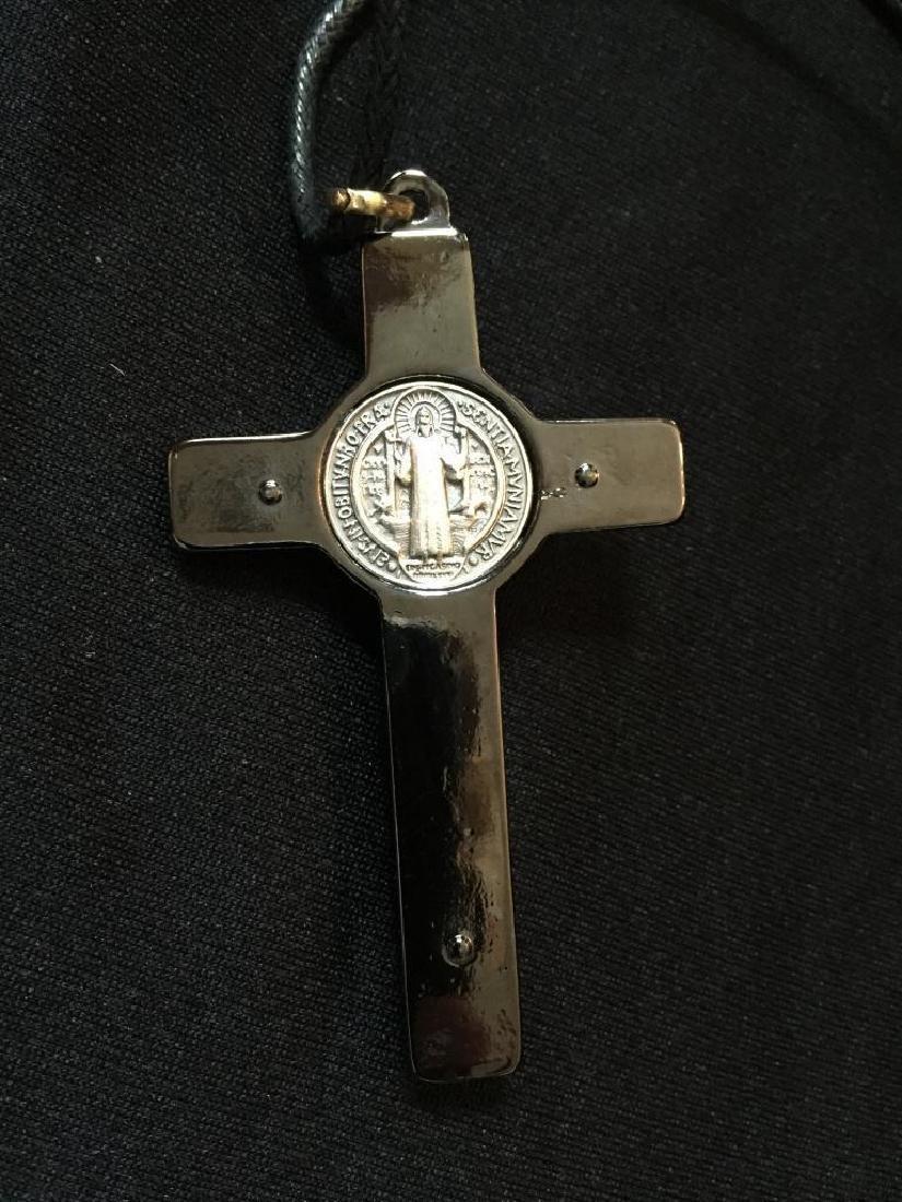 St Benedict of Nursia Cross Crucifix Medal - 3