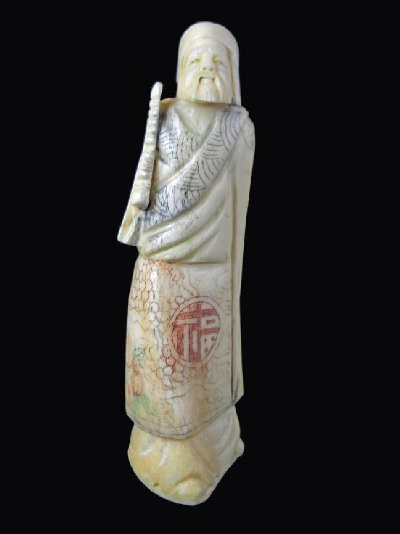 Antique Japanese Bone Okimono Figure