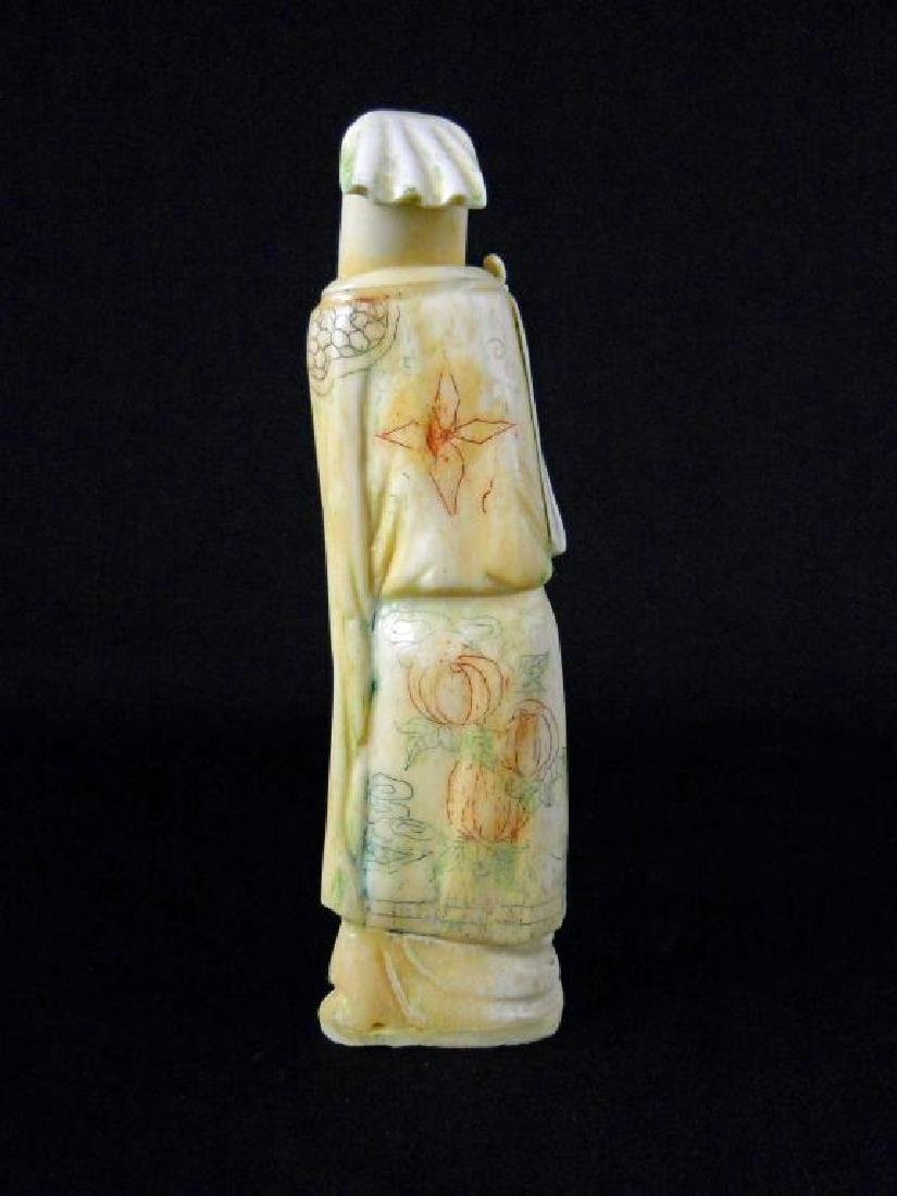 Antique Japanese Bone Okimono Figure - 3