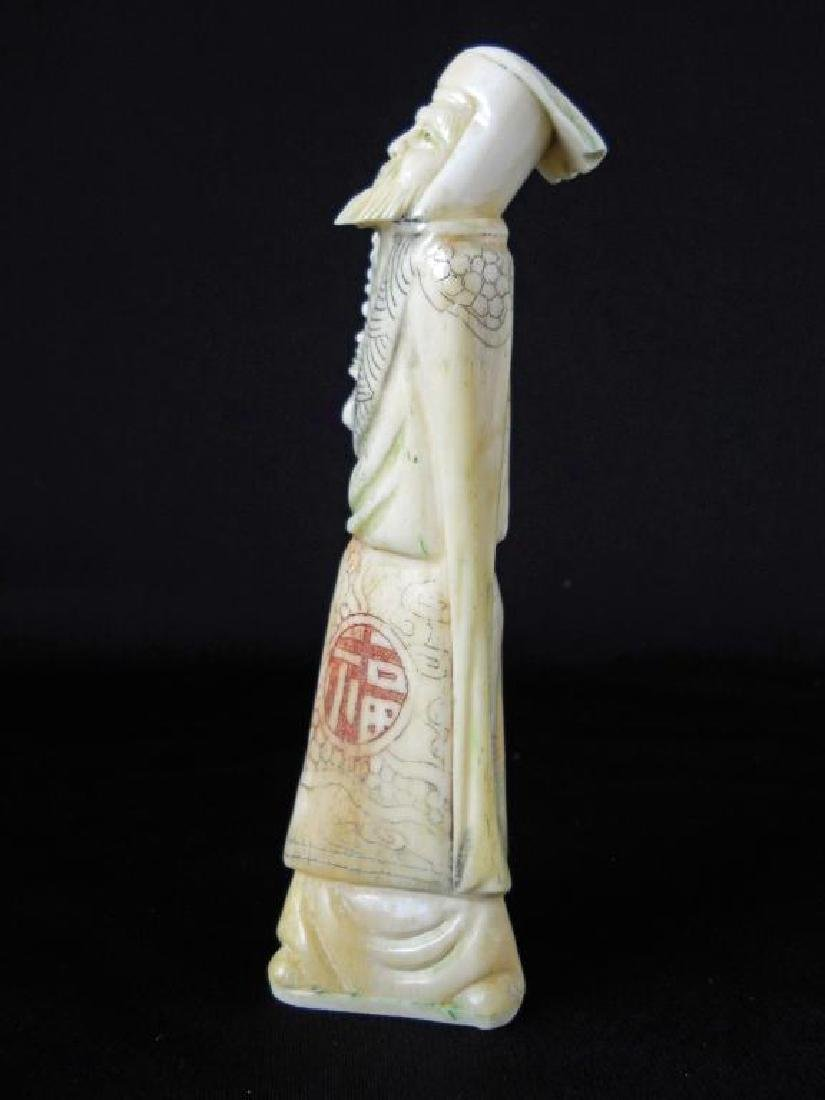 Antique Japanese Bone Okimono Figure - 4