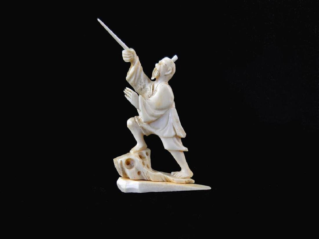 19thc Hand-carved Ivory Oriental Figure