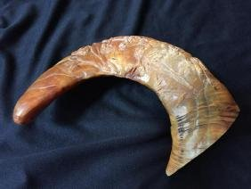 Massive 19thc Chinese Carved Horn