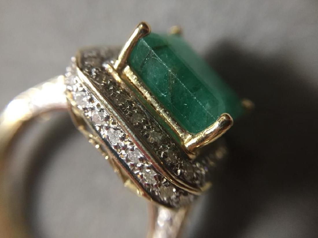 5.25ctw Emerald & Diamond 14kt Gold Ring - 2