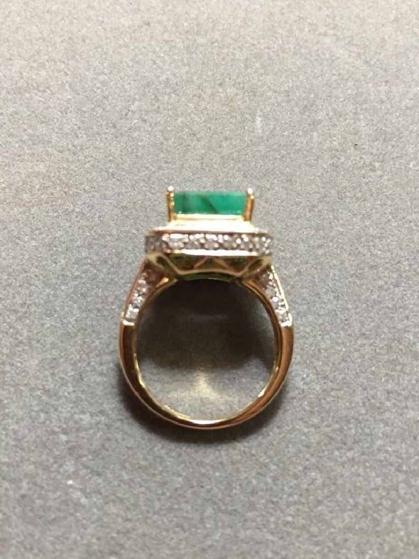 5.25ctw Emerald & Diamond 14kt Gold Ring - 3