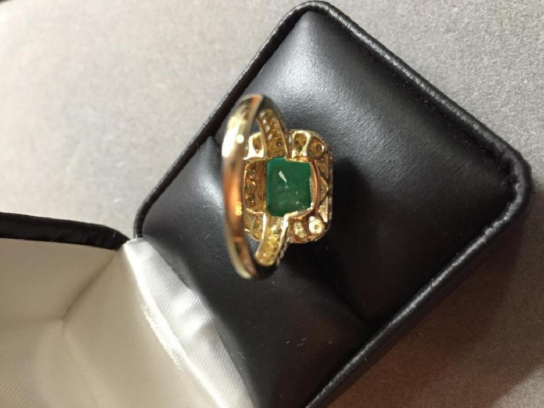 5.25ctw Emerald & Diamond 14kt Gold Ring - 6