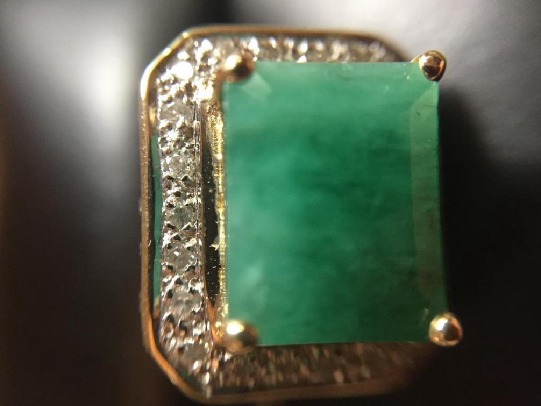 5.25ctw Emerald & Diamond 14kt Gold Ring - 8
