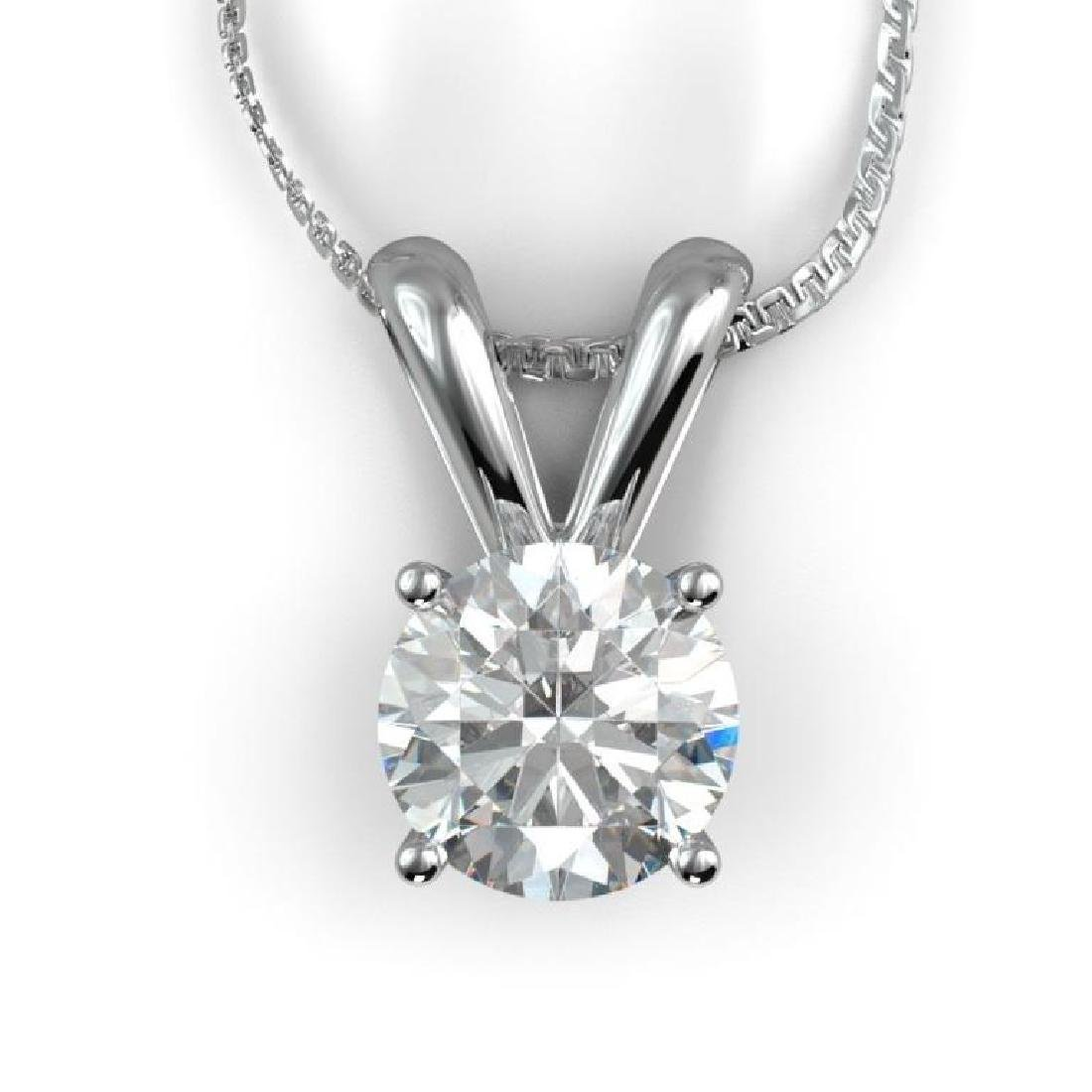 1.6ct Round Diamond & 14kt White Gold Necklace