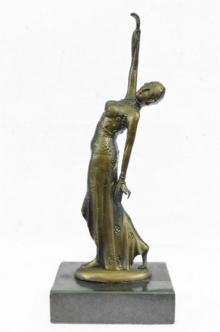 After Chiparus, Art Deco Dancer Bronze Sculpture