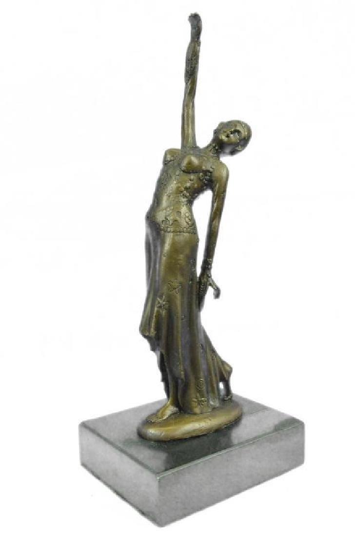 After Chiparus, Art Deco Dancer Bronze Sculpture - 2